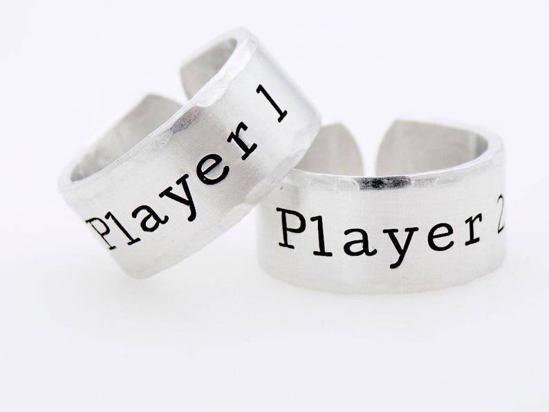 Matching Rings Player 1 Player 2 Gamer rings Matching Set image 0