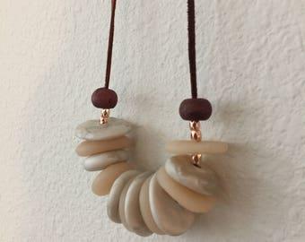 polymer clay necklace/Polymer clay necklace/necklace/bridesmaid gift/best friend gift/birthday gift/jewelry