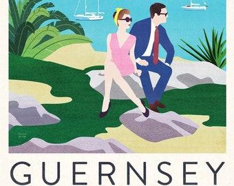 Guernsey Travel Poster