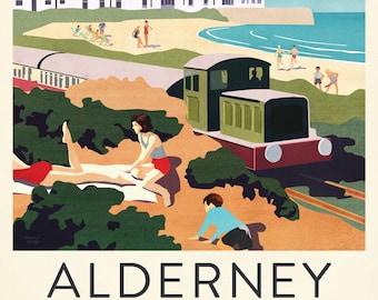 Alderney Train Poster