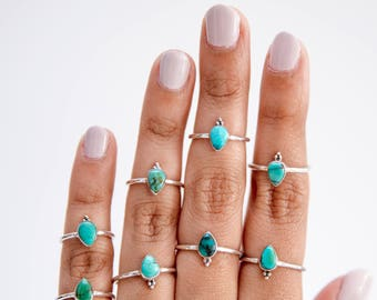 Rings * Promise Ring * Silver * Valentines Gift * Turquoise * Valentines Day * Turquoise Ring * Silver Turquoise Ring * Valentine * Bohemian