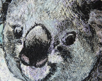 Original Art - Australian Animals -  by Kathryn Harmer Fox - Fibre artist. Postcard series