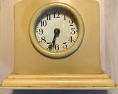 Vintage Art Deco Celluloid Clock Antique Clock Art Deco Vintage Bakelite