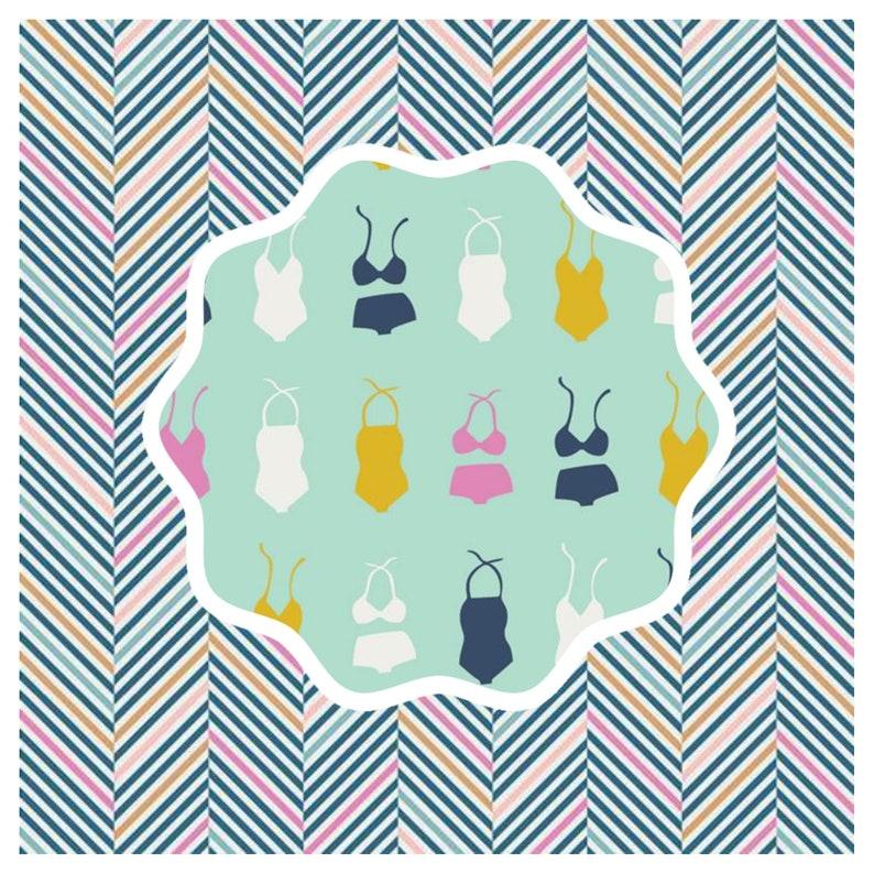 Beach Pool Mint Green Summer Fabric Swimsuit Fabric Swimsuit Soiree Seafoam Summer Side Art Gallery Fabric