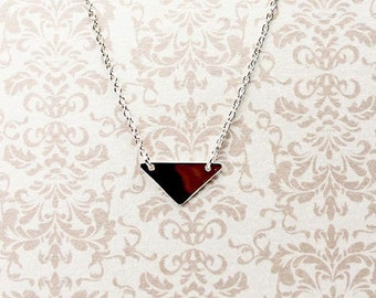 Sterling Silver Triangle Necklace - Dainty Triangle Necklace - Triangle Pendant - Layering Necklace - Gift for her - Dainty Necklace