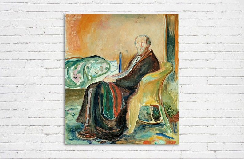 1919 D6050 Museum Quality Oil Painting Reproduction Edvard Munch Self-Portrait with the Spanish Flu