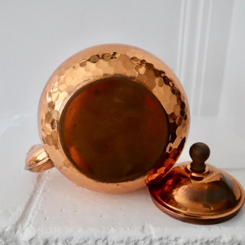 Vintage Hammered Copper Tea Kettle