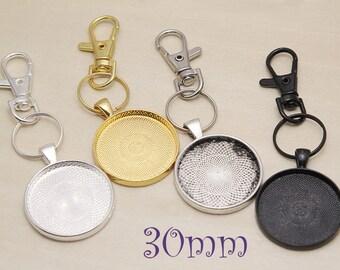 Military Series Glass Cabochon Silver keyring V08