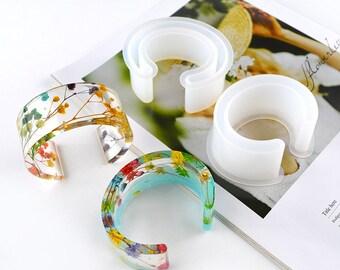 Bracelet Mold Resin Mold DIY Jewelry Epoxy Mould Resin Bangle Mold large size bracelet Silicon Mold Rhombic Bracelet Mold