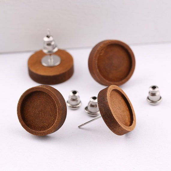 10pcs Antique Bronze Brass Lever Back Hoop Earring Components Fit 18mm Cabochons