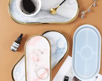 Oval silicone tray mold-Oval resin tray mold-Oval silicone plate mold-Oval resin dish mold-Oval tray mold-Jewelry tray mold