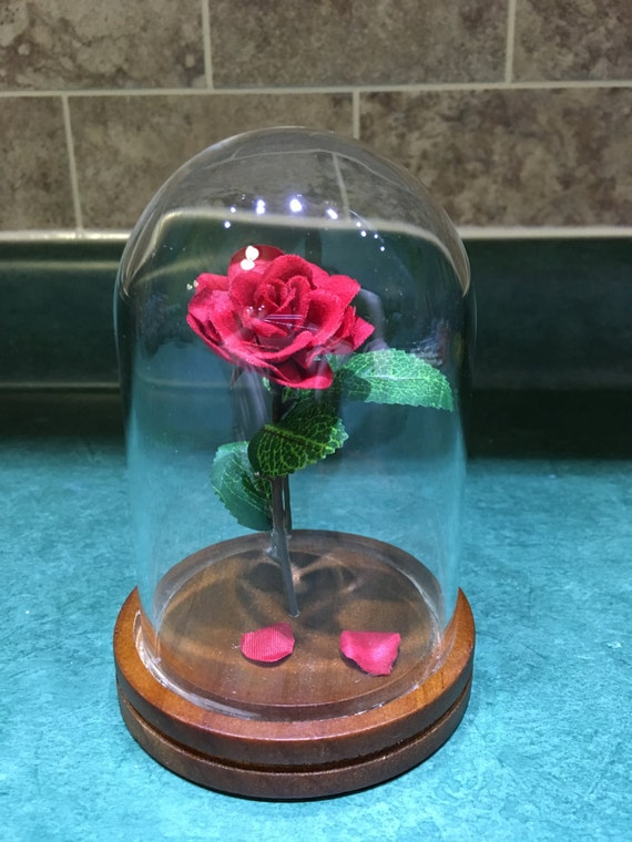 Engraved Beauty And The Beast Rose Small Etsy