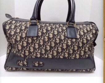 c332a3d9c35e DIOR Magnificent RARE Vintage Trotter Monogram LARGE Duffel Carry on  Handbag Travel bag