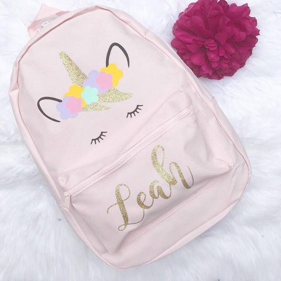 Unicorn Backpack Personalised Backpack Girls Backpack   Etsy dfe4de9fba