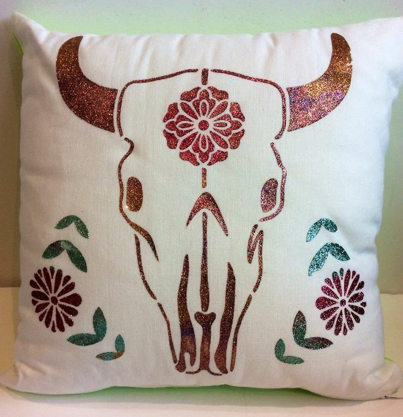 Bull Glitter Cushion