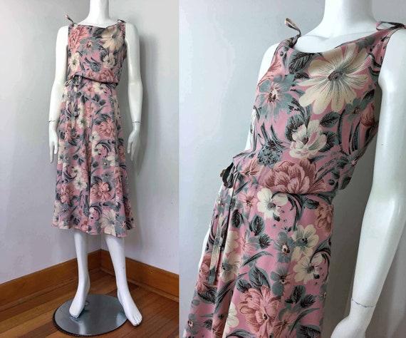 70s CUE Cowl Neck A-Line Dress – Size 10-12 – 1930