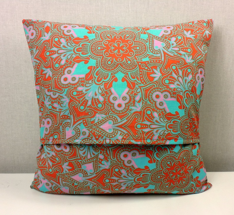 Pillow cover pillow case cover pillow cover 40x40 cotton fabric ornaments red green patterned
