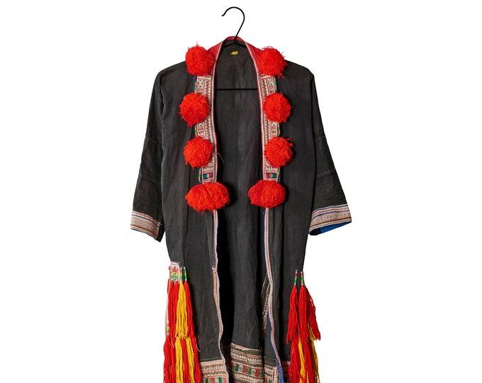 Tribal jacket with pom pom