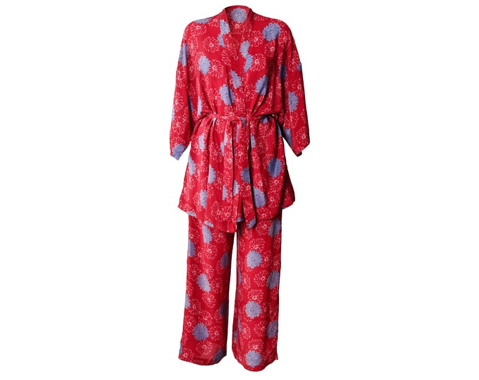 Crepe Silk pyjama/kimono set