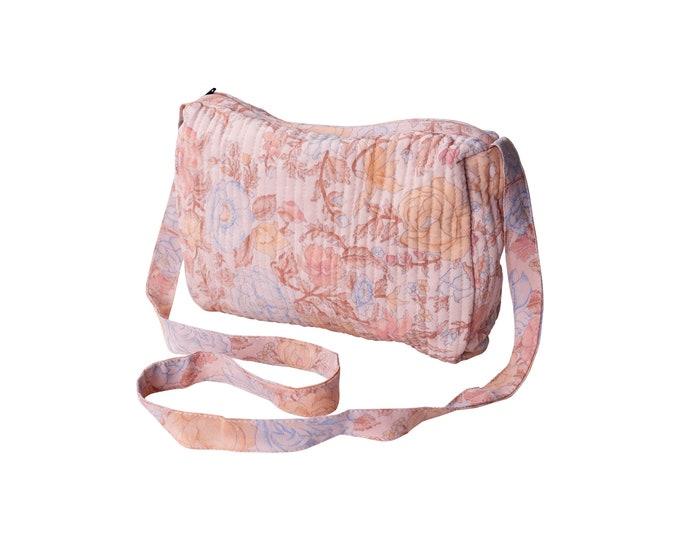 Cross-over quiltet silk