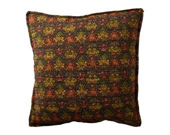 Quiltet silk cushion cover 50x50