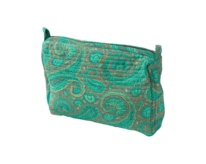 Make-up bag quiltet silk