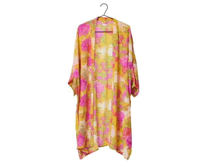 Crepe Silk kimono mellem