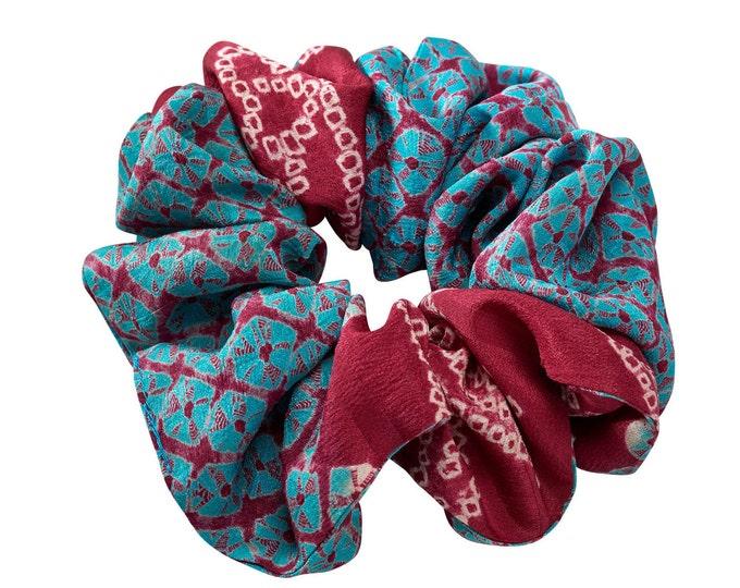 Silk cloud shibori / scrunchie
