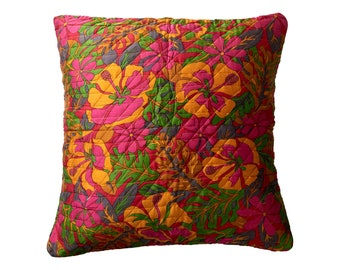 Quiltet silk cushion cover 50x50