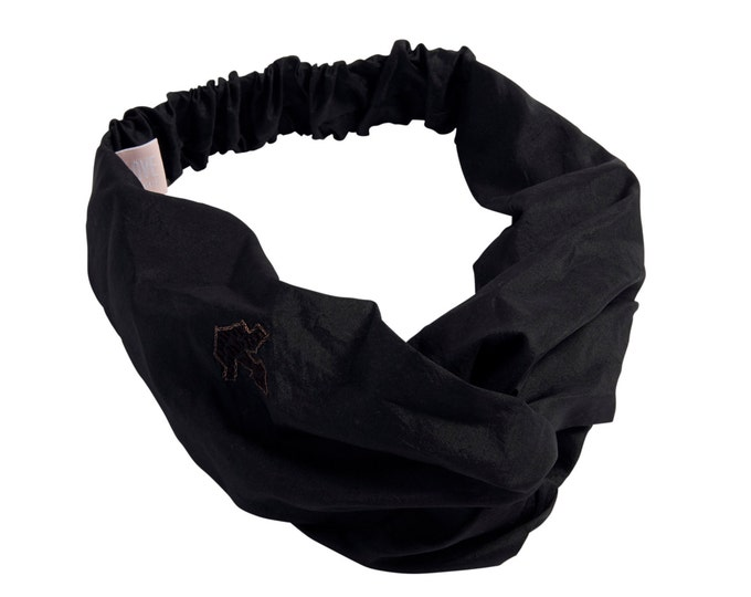 Silk Hairband Black