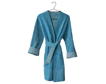 Quilted Silk kimono jacket long