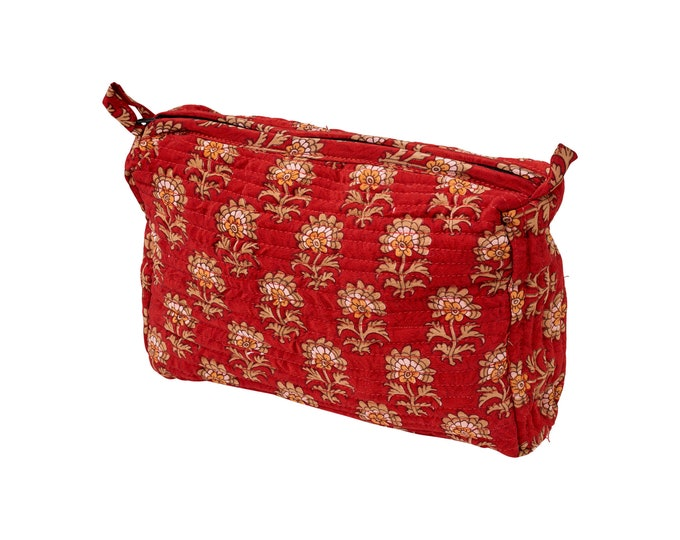 Make-up bag quiltet silk