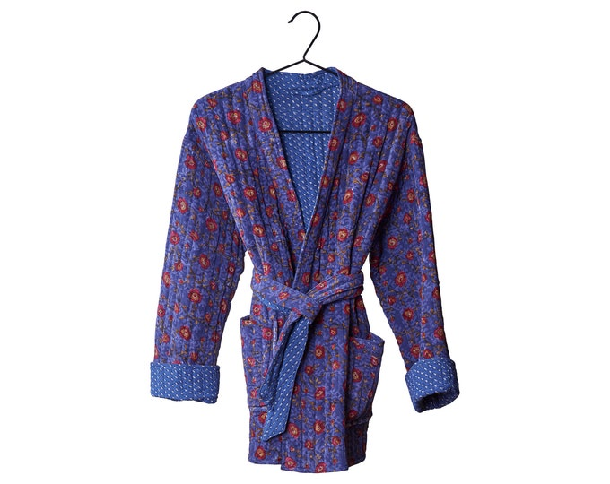 Quilted Silk kimono jacket