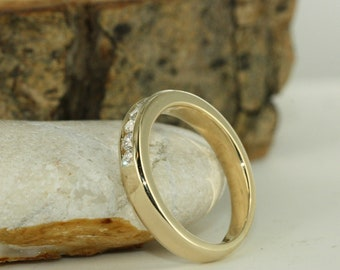 7 Stone Classic Diamond And Yellow Gold Ring Ready To Ship Size 6.5