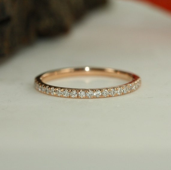 Eternity Ring Eternity Bands For Women 1.6 ct  Round Cut Solitaire Bridal Promise Ring in Solid 14k Yellow Gold Eternity Rings Eternity