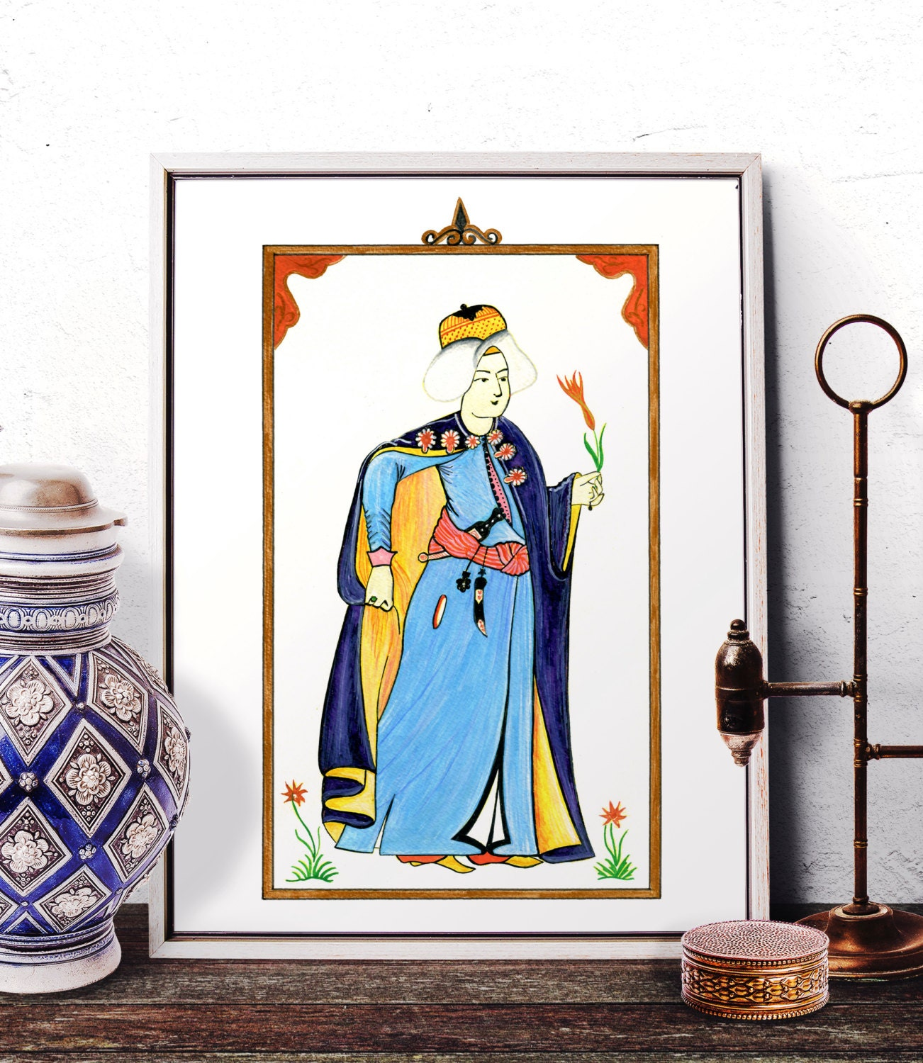 Ottoman Miniature Home Decor Turkish Miniature Watercolor ...