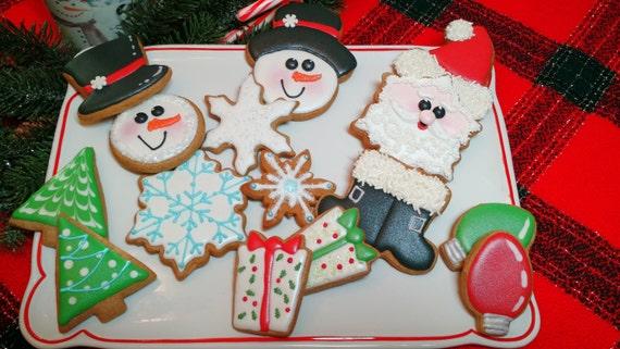 Christmas cookies winter cookies holiday cookies cookie etsy