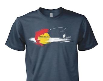 Colorado Flag Fishing Shirt Fly Fishing Shirt, Fly Fishing Gifts, Fly Fishing, Fishing, Fishing Art,