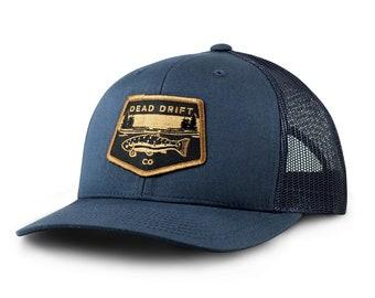 deb1eb2f Bucking Trout Trucker Hat Dead Drift Fly Fishing   Etsy