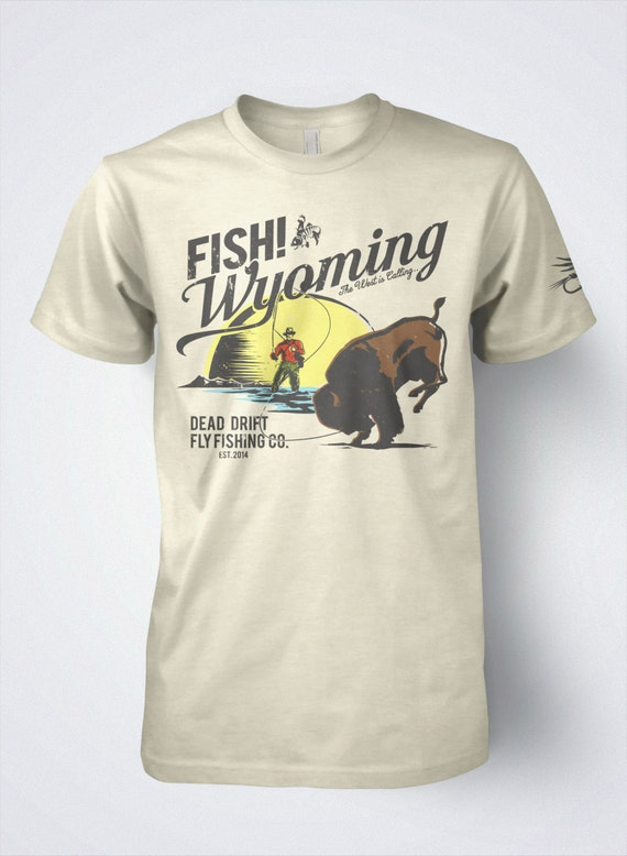 c6b2ac853c03e Fly Fishing T shirt The Retro Buffalo by Dead Drift Fly