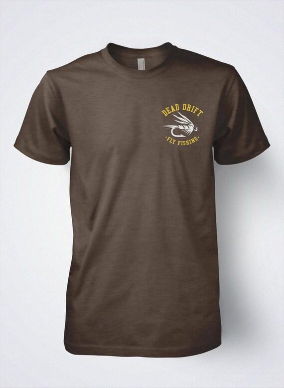 e46adbbf Fly Fishing T Shirt Wyoming BUCKING TROUT by Dead Drift Fly   Etsy