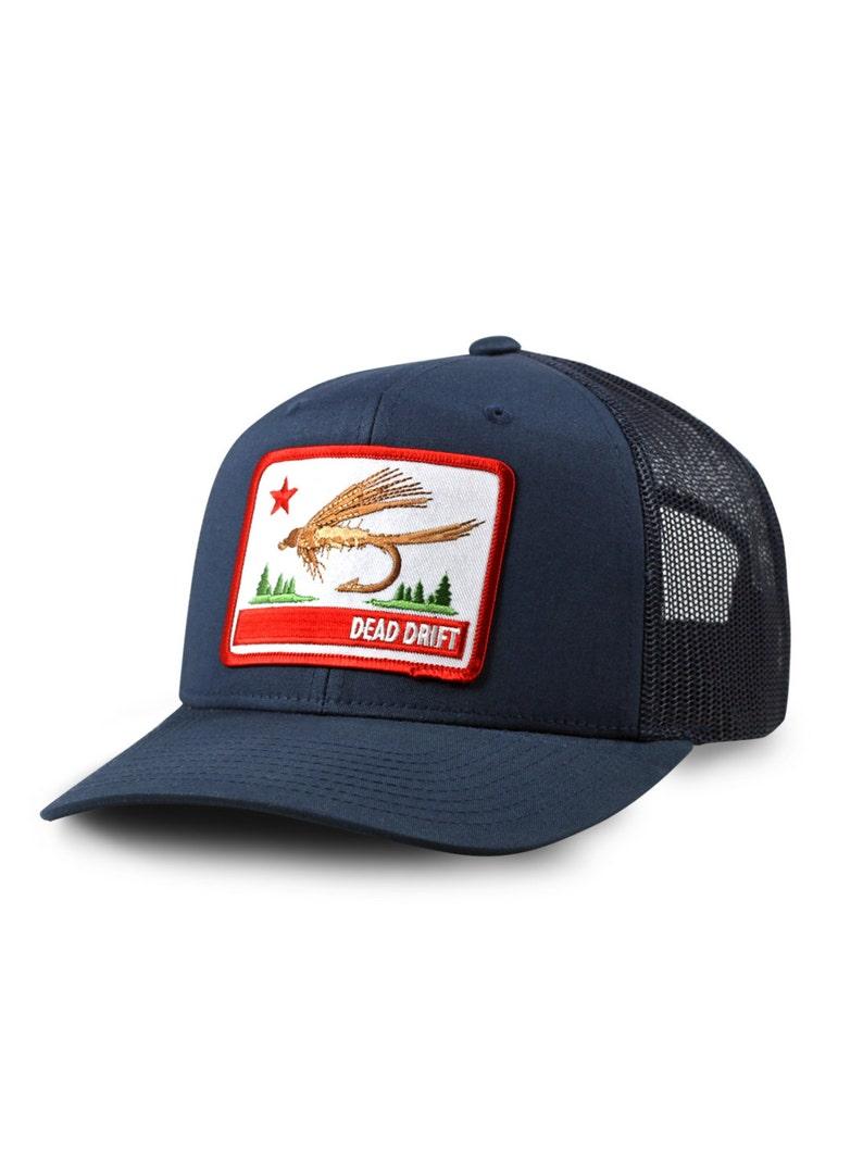 cfe15ac88d1f9 California Fly Flag Trucker Hat Dead Drift Fly Fishing