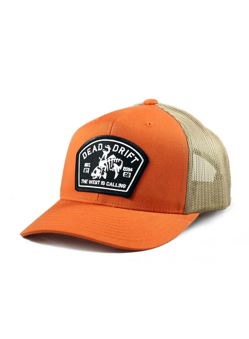 8f8ce1bb2ef74 Bucking Trout Trucker Hat Dead Drift Fly Fishing