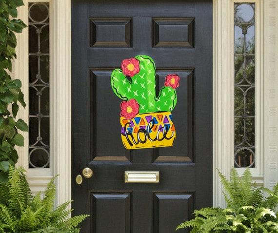 Exceptionnel Cactus Door Hanger Summer Door Hanger Cactus Door Decor | Etsy