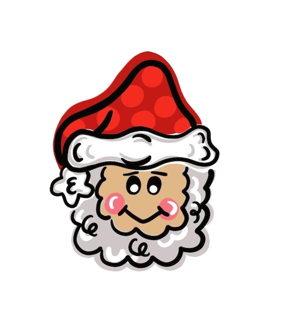 santa door hanger download digital download door hanger etsy