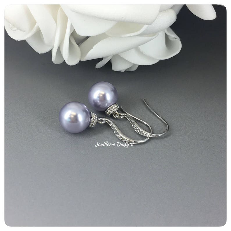 Bridesmaid Gift Lavender Earrings Purple Earrings Lavender Wedding Jewelry Bridal Party Gift Prom Jewelry Earrings Maid of Honor Gift