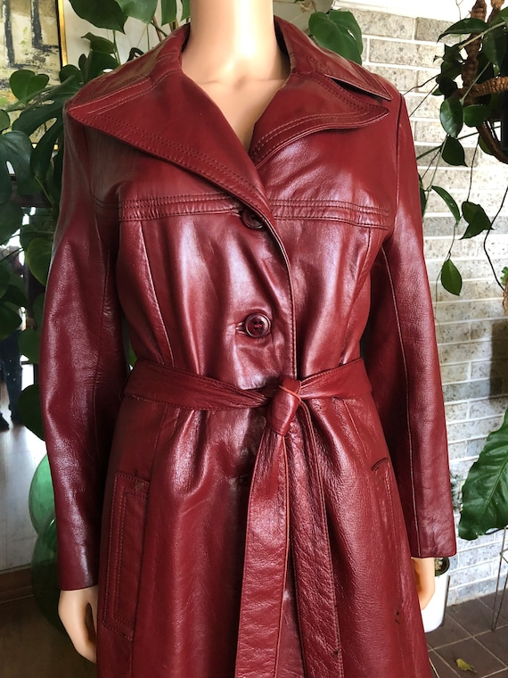 Red Leather trenchcoat