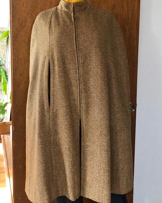 Tweed cape