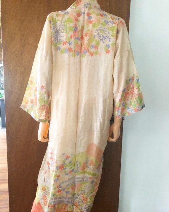 1920s Pongee Silk robe - image 3
