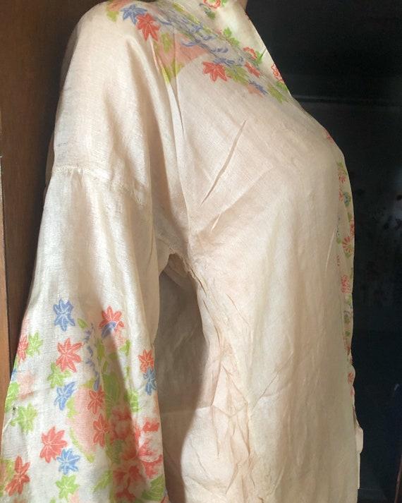 1920s Pongee Silk robe - image 1